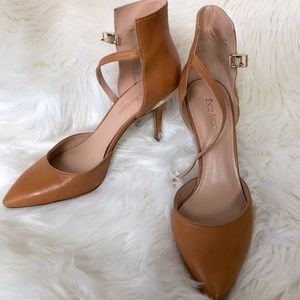 Enzo Angiolini Camel Point Toe Heel Size 9.5